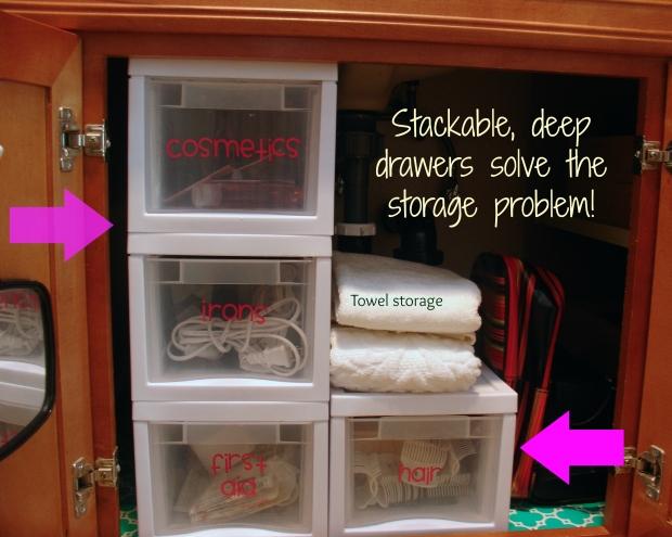 Bathroom storage solved