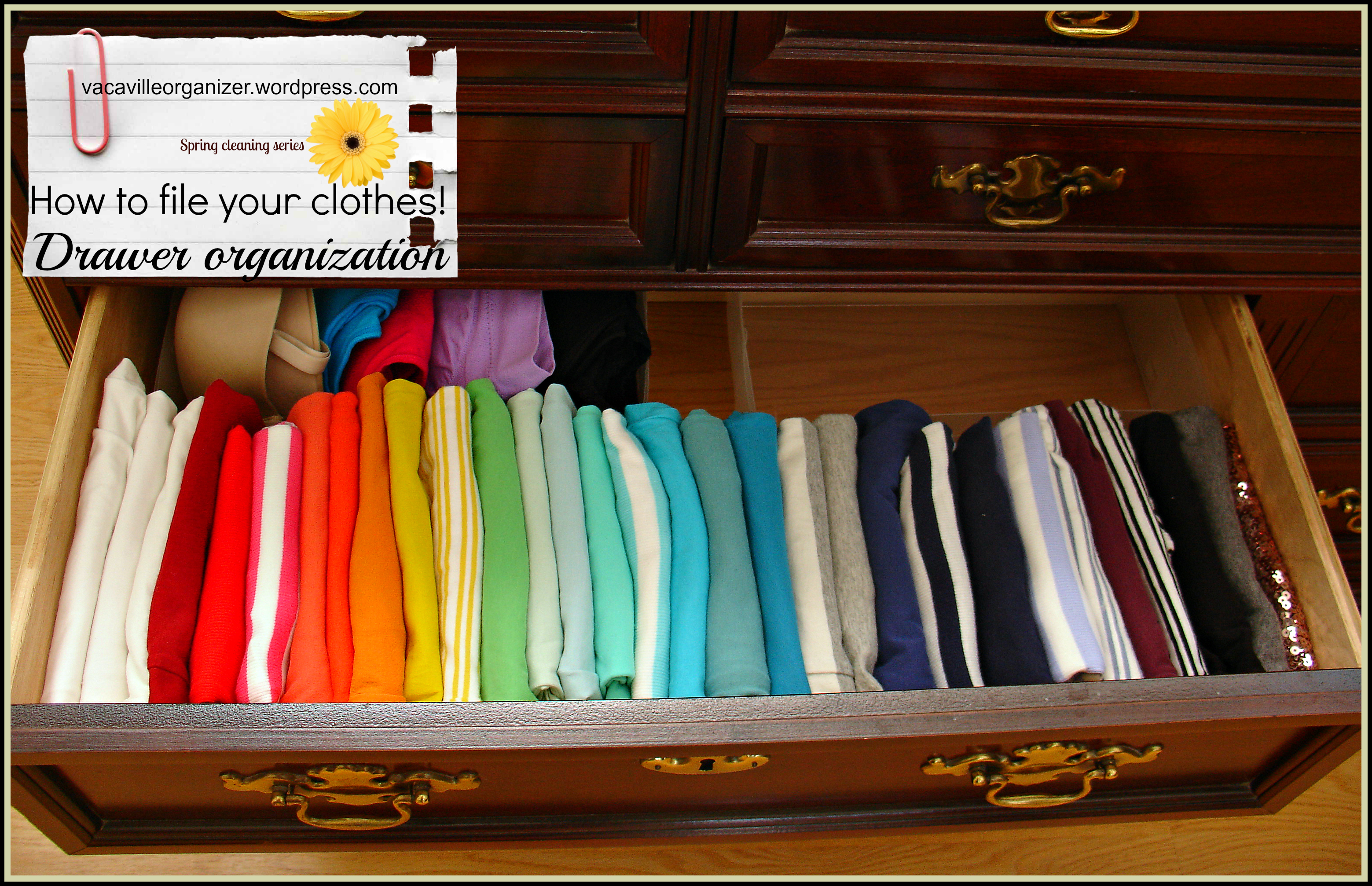 Drawer Organization Ideas Filing Clothes Vacaville