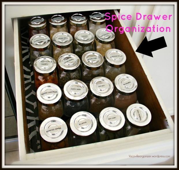 Spice Drawer organized with RAJTAN