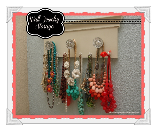 wall jewelry storage