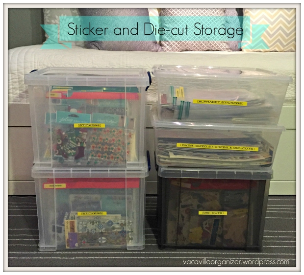 sticker and die cut storage