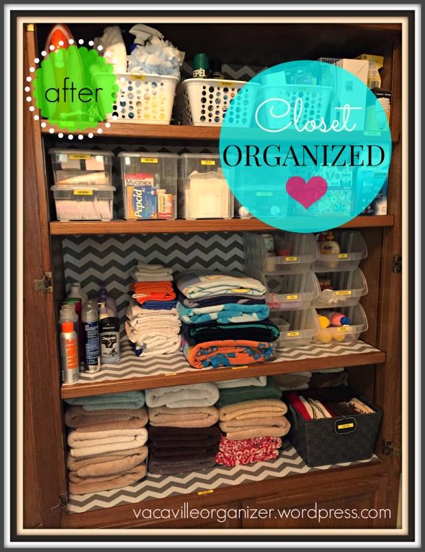 Hall Closet Organized