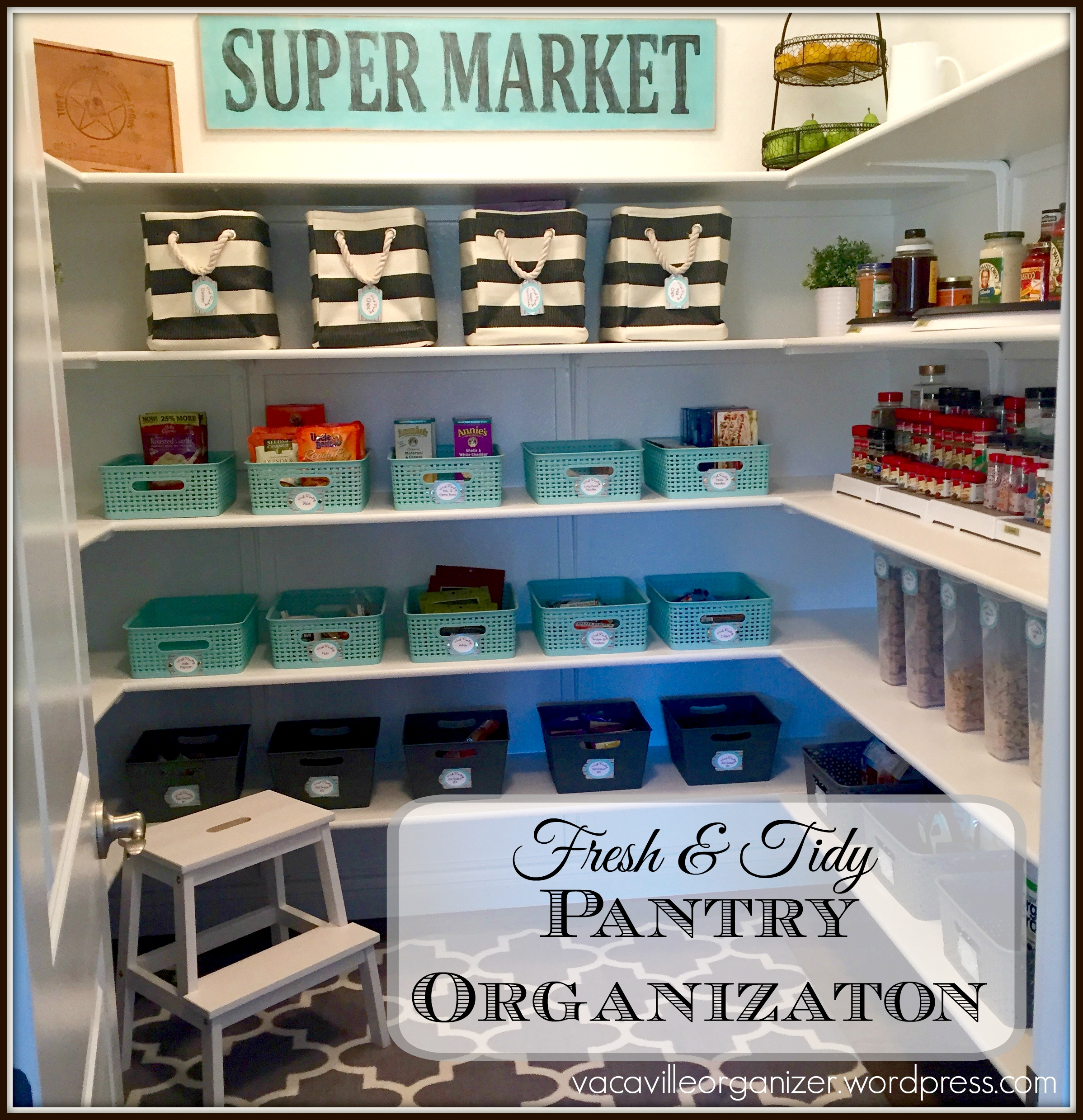 Fresh and Tidy Pantry Organization – Vacaville Organizer...the blog